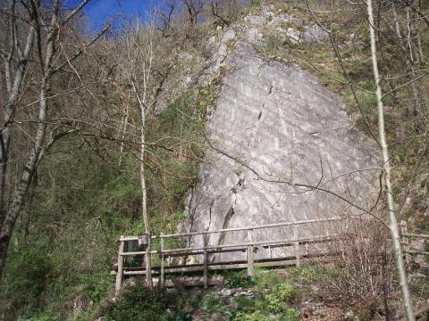 Vue du rocher d'escalade